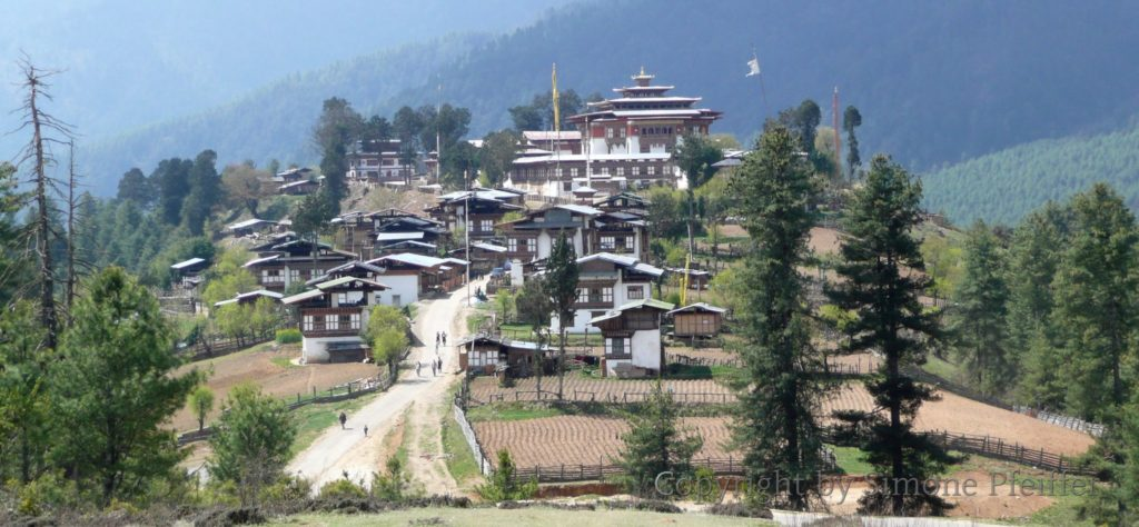 Gangteng Village mit Gonpa