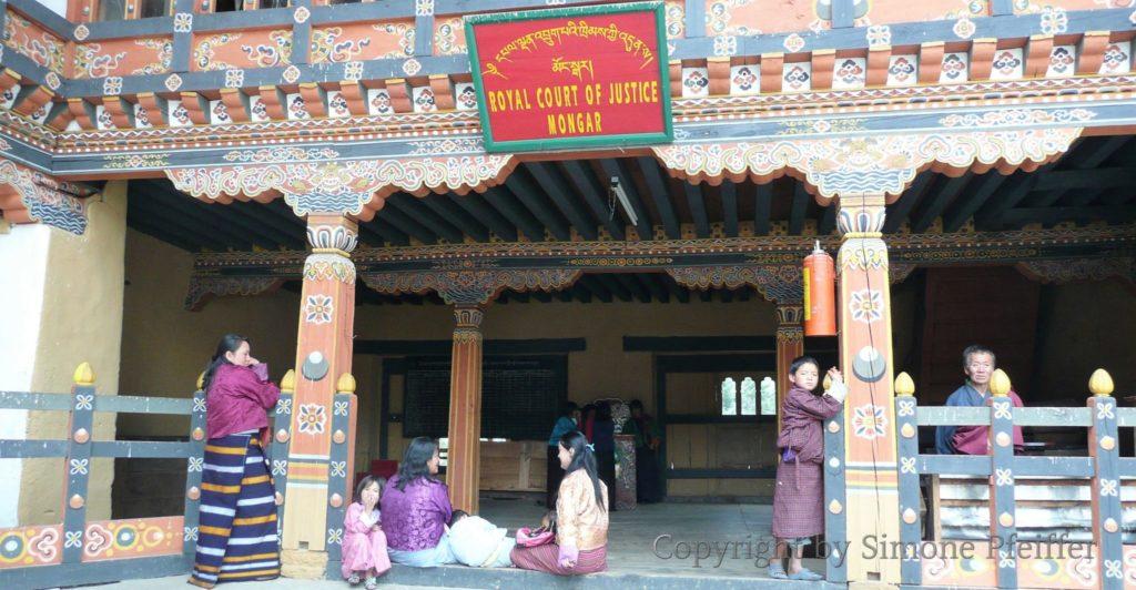 Bhutan, Mongar Dzong, Gerichtshof, Court of Justice