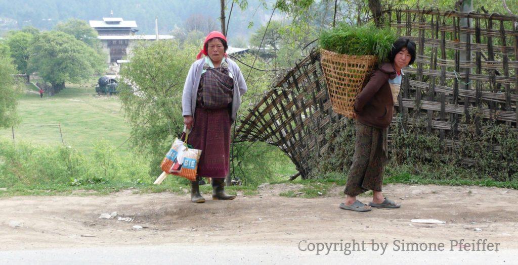 Bhutan, Bumthang, farmers