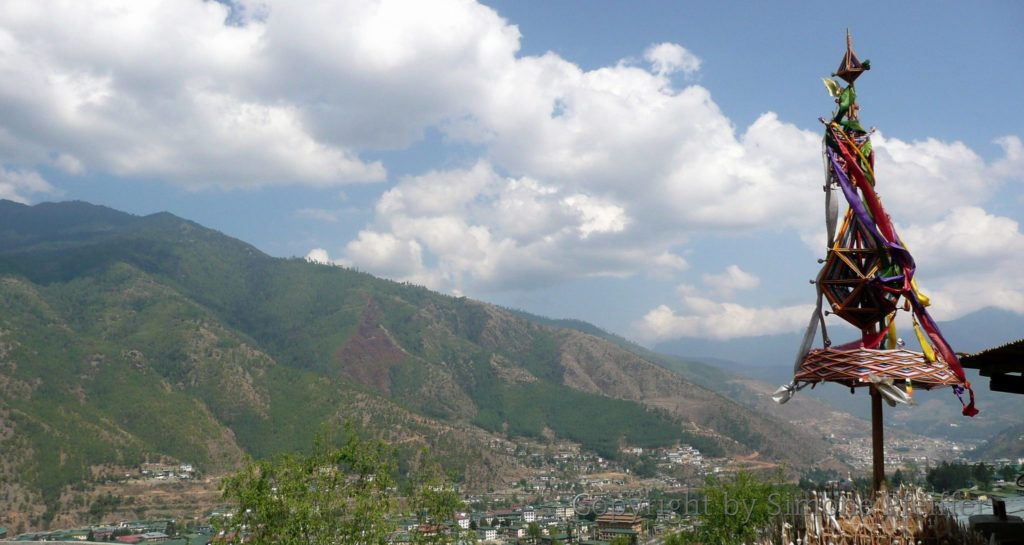 Thangthong Dewachen Blick auf das Thimphu-Tal
