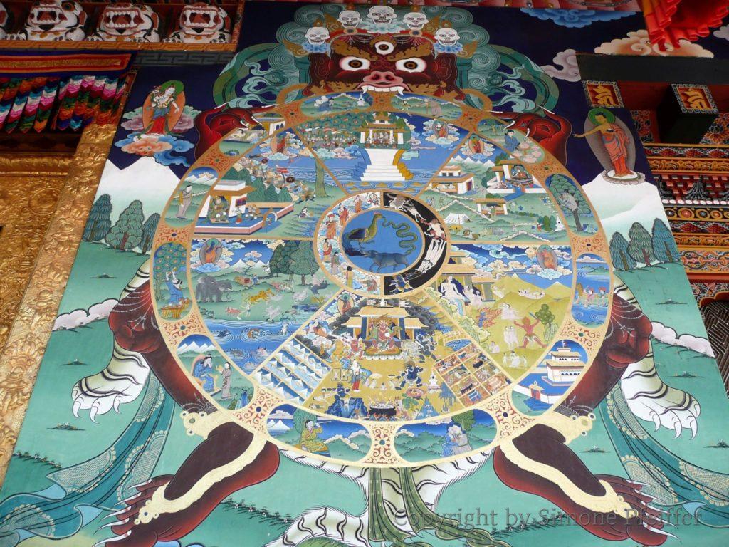 Bhutan - Wheel of life.