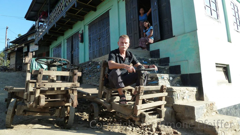 Chin State, Myanmar, Wooden cars