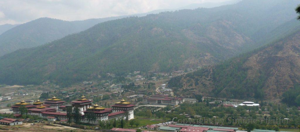 Bhutan, Thimphu, Tashichoe Dzong