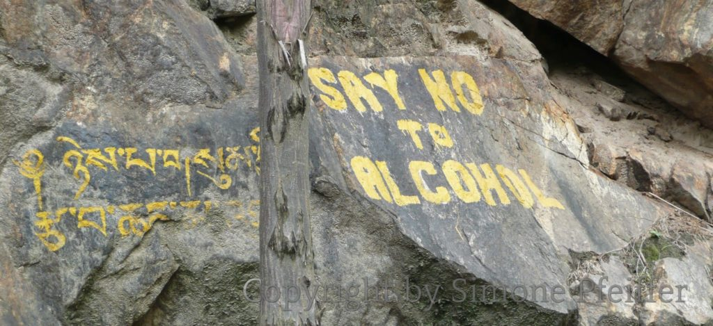Bhutan - Say no to alcohol