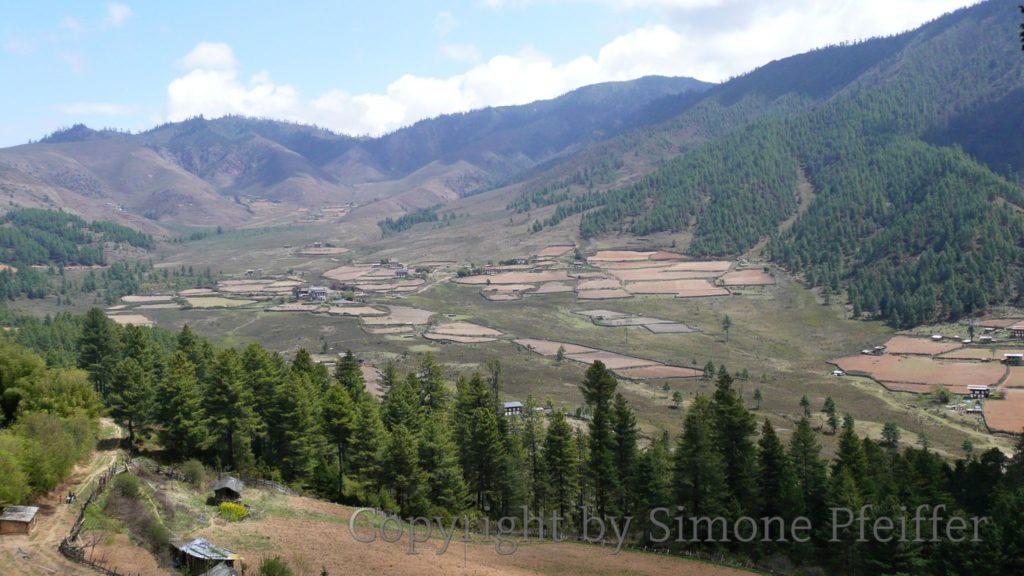 Die Schwarzen Berge – Phobjika-Tal.