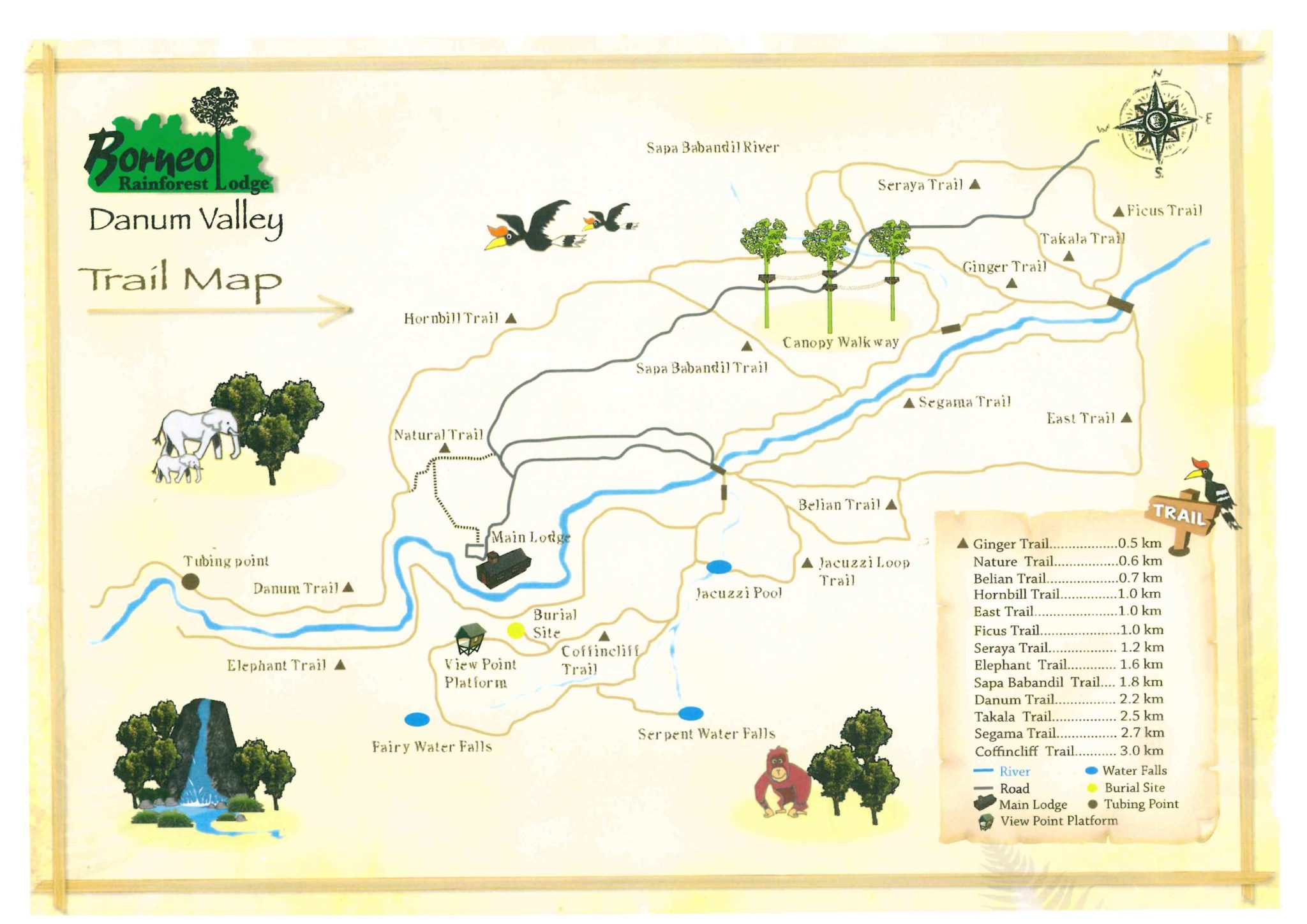 Danum Valley Trail Map