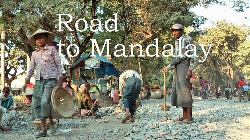 Road from Amarapura to Mandalay