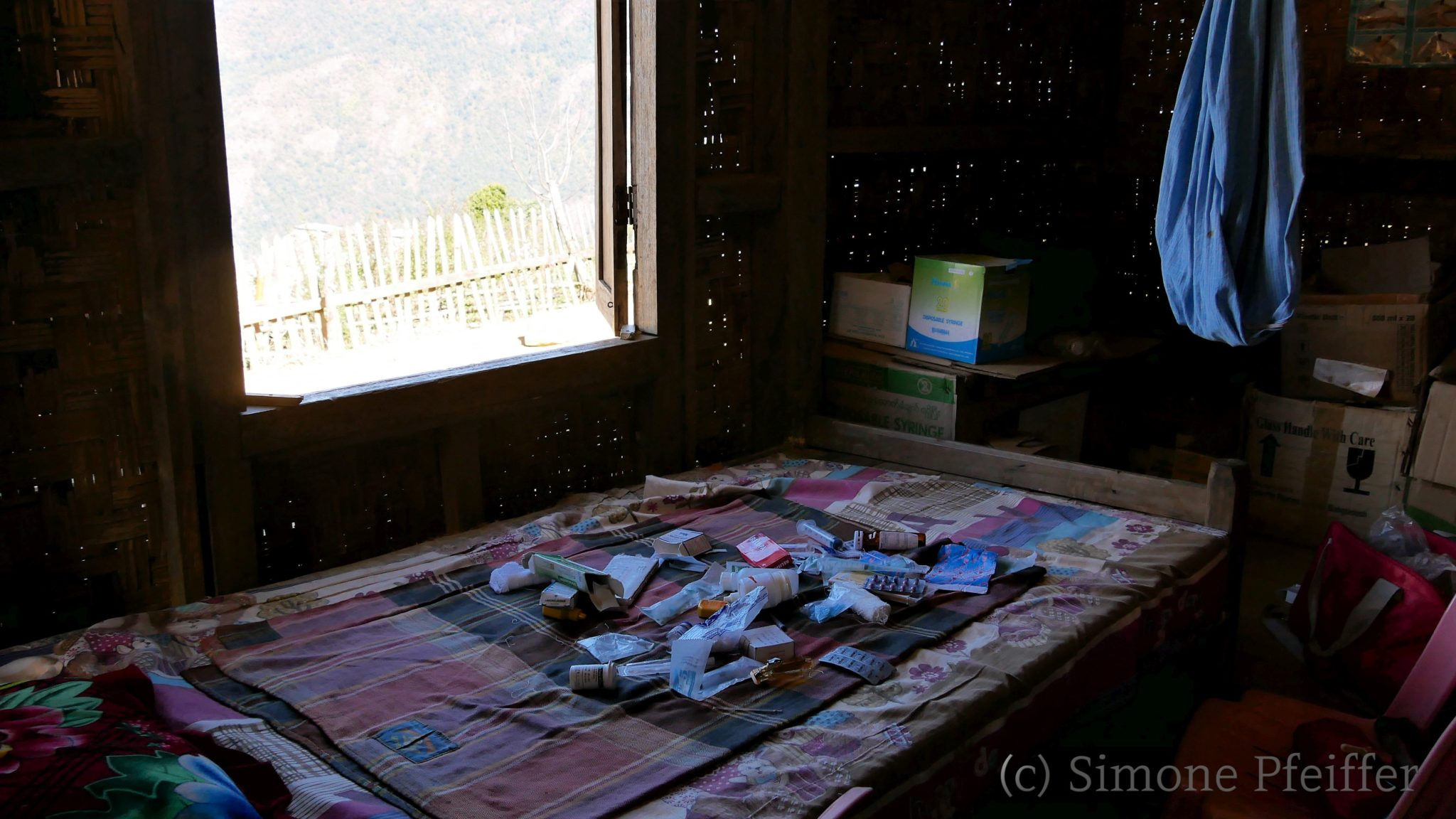 Sat Pyar Village - die Behandlungsliege
